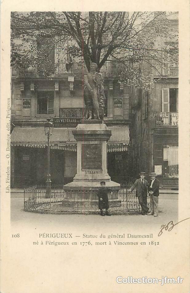 Cpa france 24 p rigueux statue du g n ral daumesnil 24 dordogne p rigueux 24 ref - La poste daumesnil ...