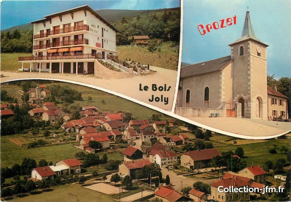 """CPSM FRANCE 01""""Crozet, l'h u00f4tel le bois Joly"""" 01 ain autres communes (01) Ref 56902  # Le Bois Joly Crozet"""