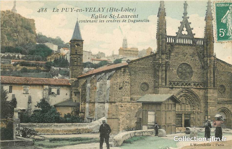 Cpa france 43 le puy en velay eglise saint laurent 43 for Haute loire 43