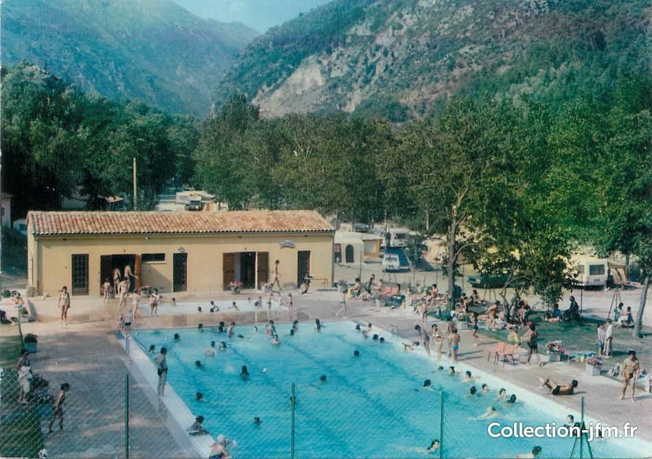 Cpsm france 06 breil sur roya la piscine et le camping for Piscine alpes maritimes