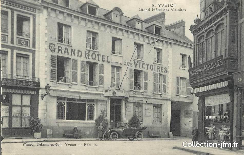 Cpa france 76 yvetot grand h tel des victoires 76 for Hotels yvetot