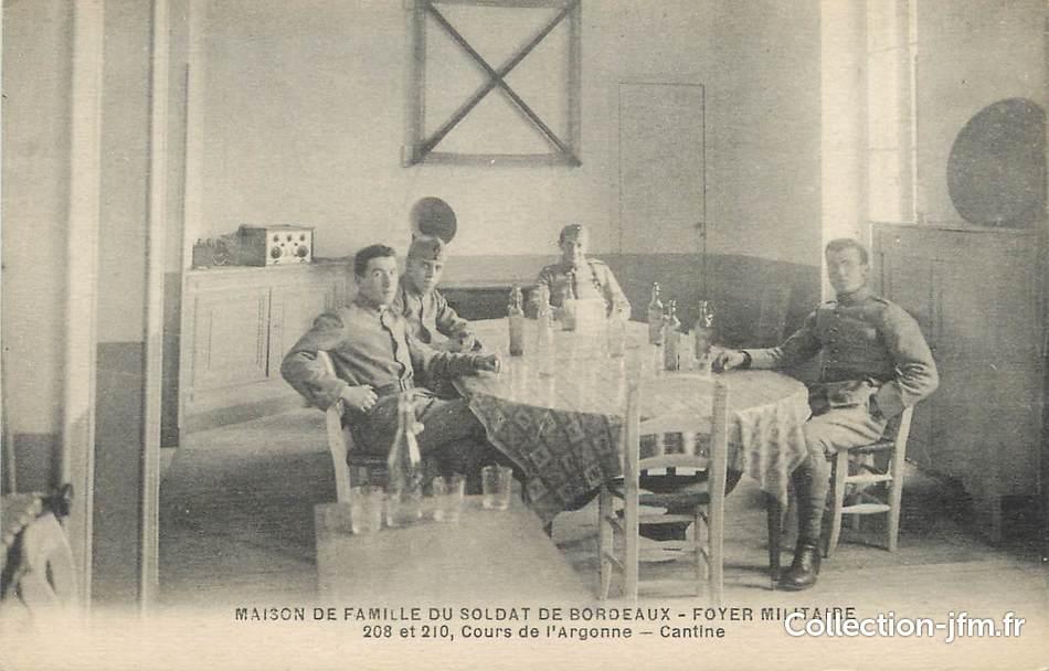cpa france 33 bordeaux maison de retraite du soldat foyer militaire 33 gironde bordeaux. Black Bedroom Furniture Sets. Home Design Ideas