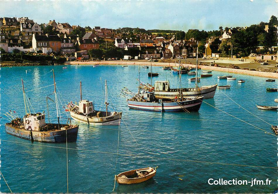 Cpsm france 22 loguivy de la mer le port de p che vu du rocher 22 cotes d 39 armor autres - Port de peche cote d armor ...