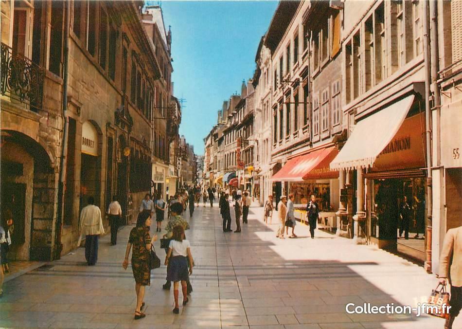 Cpsm france 25 besan on la grande rue pi tonni re for 25 besancon