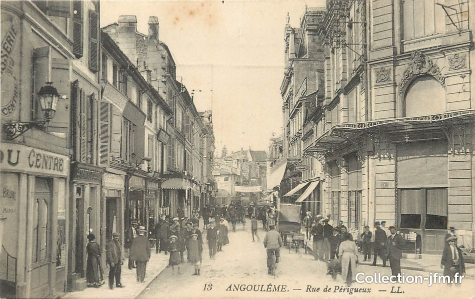 Cpa france 16 angoul me rue de p rigueux 16 for Angouleme 16