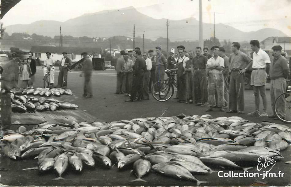 Cpsm france 64 saint jean de luz au port vente de for Vente de poisson