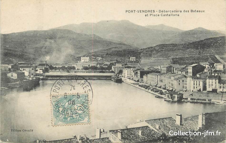 Cpa france 66 port vendres d barcad re des bateaux et - Maison de retraite la castellane port vendres ...