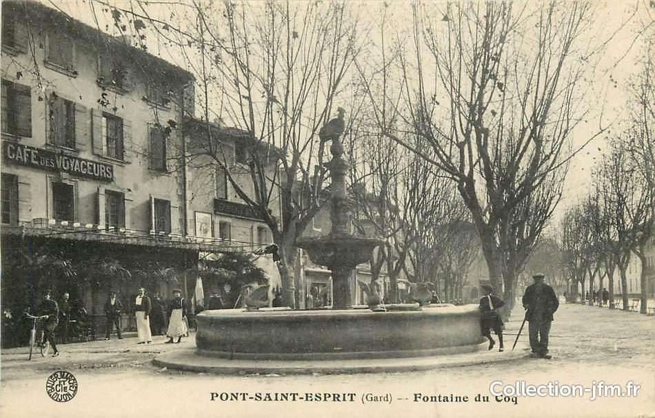 Cpa france 30 pont saint esprit fontaine du coq 30 gard autres communes 30 ref 76 - Office du tourisme pont saint esprit ...
