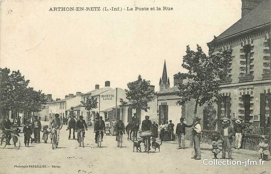 Cpa France 44 Arthon En Retz La Poste 44 Loire Atlantique