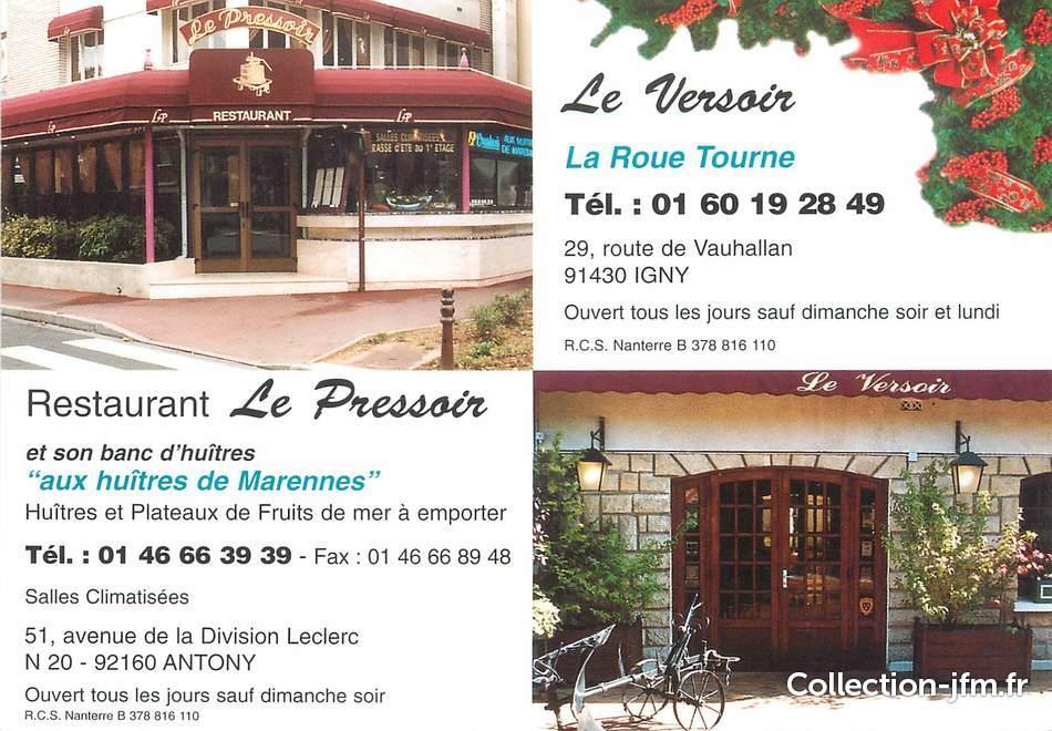Cpsm france 92 anthony restaurant le pressoir 92 for Le pressoir restaurant