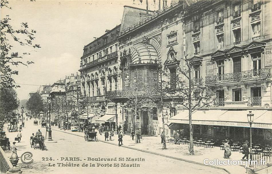 Cpa paris iii me bld saint martin le th tre de la - Theatre de la porte saint martin 75010 paris ...