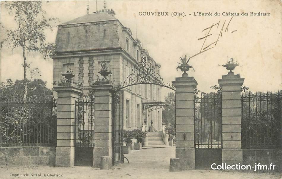 Cpa france 60 gouvieux l 39 entr e du ch teau des for Liste communes oise