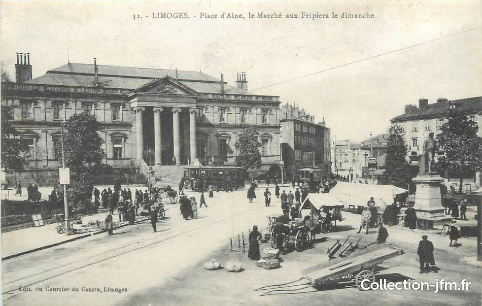 Cpa france 87 limoges place d 39 aine 87 haute vienne for 87 haute vienne carte