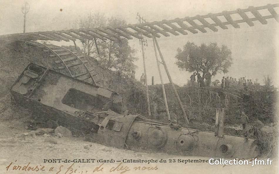 cpa france 30 pont de galet catastrophe du 23 septembre 1924 train chemin de fer 30. Black Bedroom Furniture Sets. Home Design Ideas