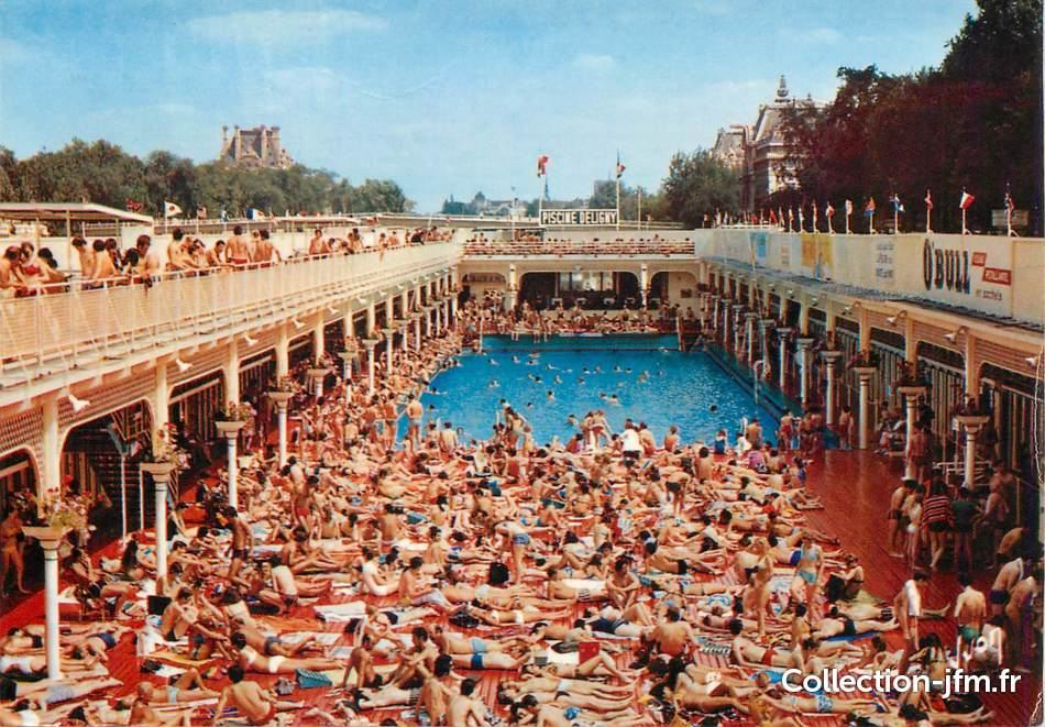 Cpsm france 75007 paris piscine deligny 75 paris 7 for Piscine a chatelet