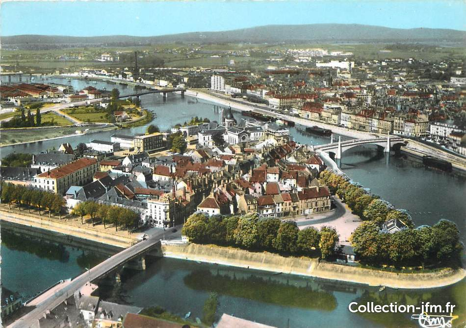 Cpsm france 71 chalon sur saone ile saint laurent vue for Plan de chalon sur saone 71