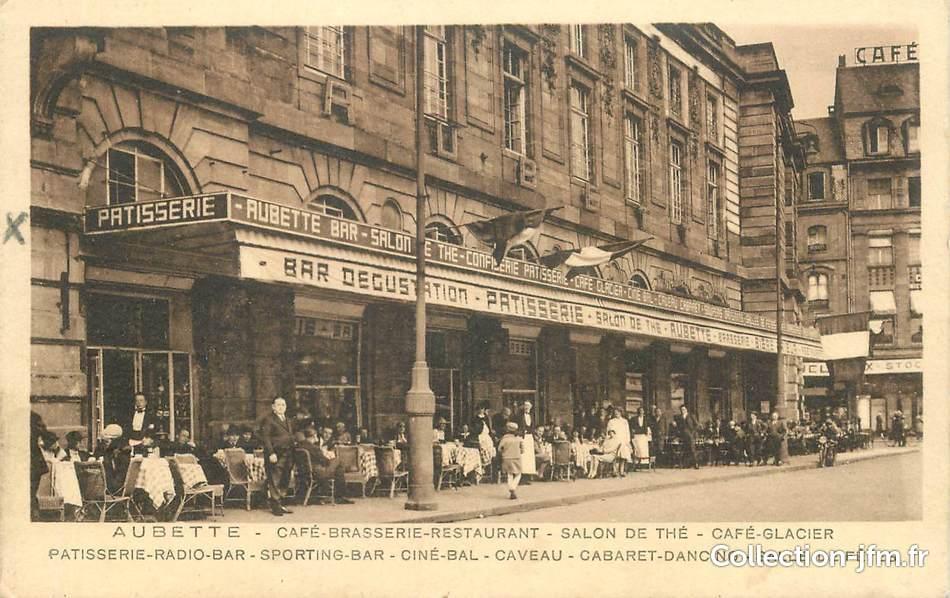 Cpa france 67 strasbourg brasserie restaurant aubette for Reso strasbourg