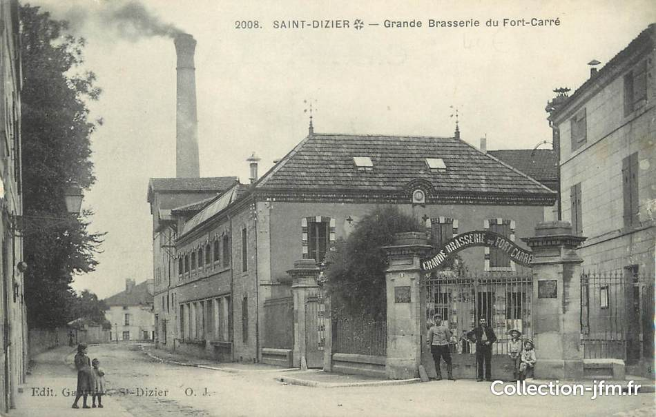 Cpa france 52 saint dizier grande brasserie du fort for 52 haute marne