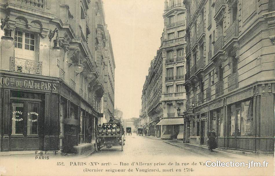 Cpa france 75015 paris la rue d 39 alleray prise de la rue de vaugira - Rue linois 75015 paris ...