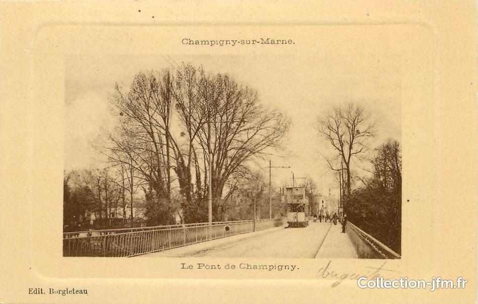 Cpa france 94 champigny sur marne le pont de champigny for Garage a champigny sur marne