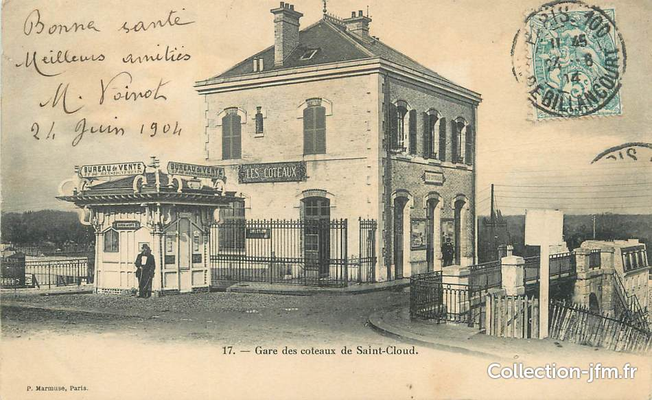 Cpa france 92 gare des coteaux de saint cloud 92 for 92 haute seine