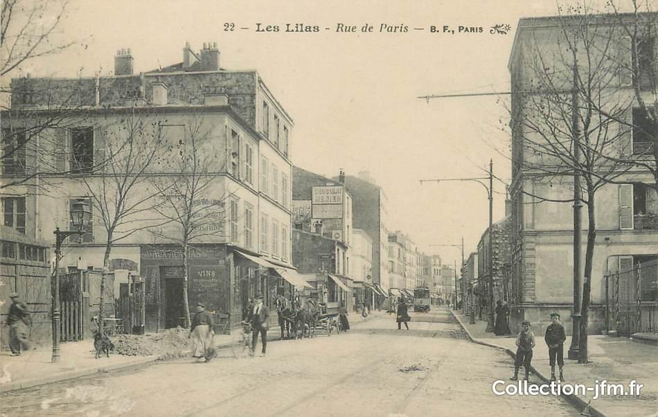 Cpa france 93 les lilas rue de paris 93 seine saint - Piscine des tourelles porte des lilas ...