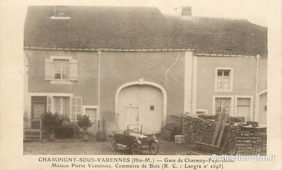 Cpa france 52 champigny sous varennes gare de charmoy for 52 haute marne