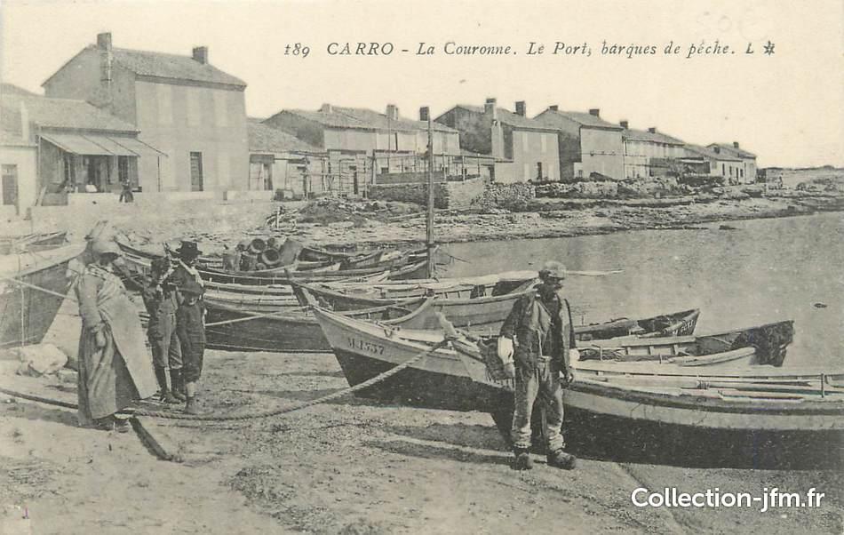 Cpa france 13 carro la couronne le port 13 bouches for Chambre de metiers des bouches du rhone