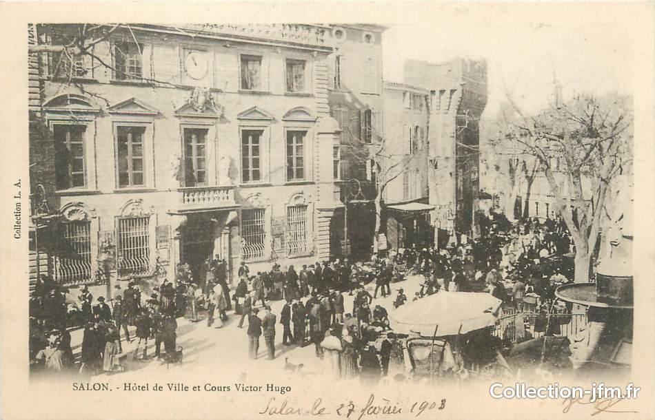Cpa france 13 salon h tel de ville et cours victor for Cours anglais salon de provence