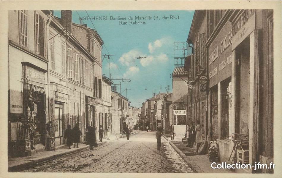 Cpa france 13 saint henri banlieue de marseille rue for Garage henri marseille