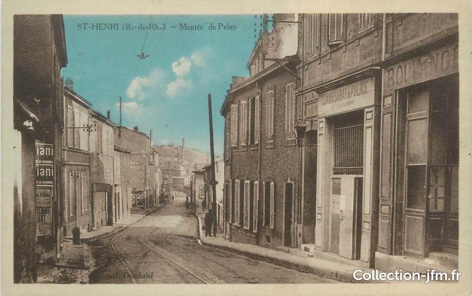 Cpa france 13 saint henri mont e de pelan 13 for Garage henri marseille