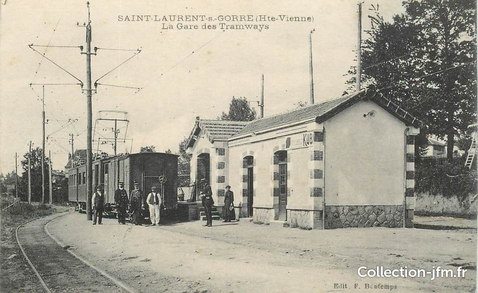 Cpa france 87 saint laurent sur gorre la gare des for 87 haute vienne france