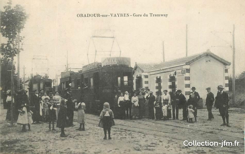 Cpa france 87 oradour sur vayres la gare du tramway for 87 haute vienne france