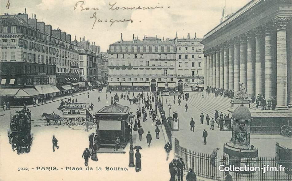 Cpa France 75 Paris Place De La Bourse 75 Paris 2 Eme