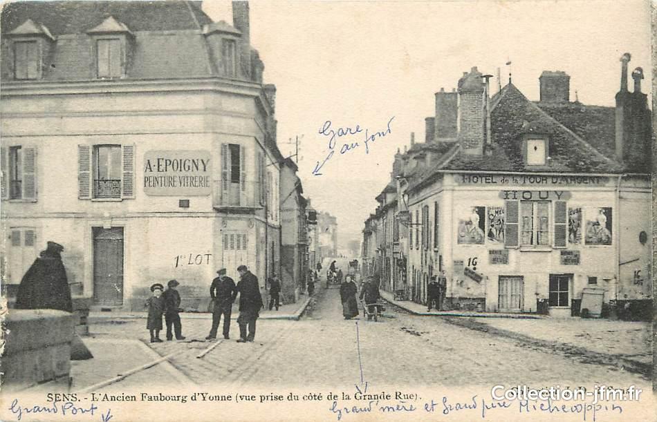 Cpa france 89 sens ancien faubourg d 39 yonne peinture for Sens 89 yonne