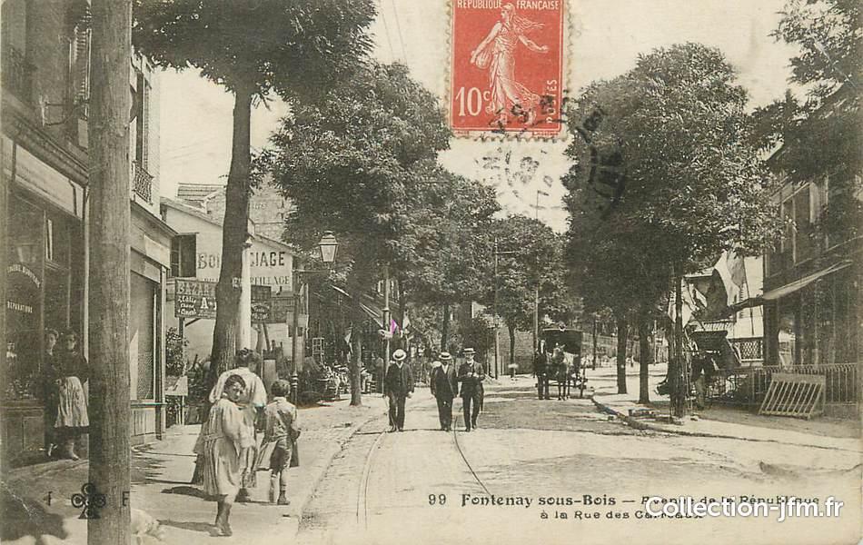 """CPA FRANCE 94"""" Fontenay sous Bois, Avenue de la République"""" 94 val de marne fontenay  # Docteur Fontenay Sous Bois"""