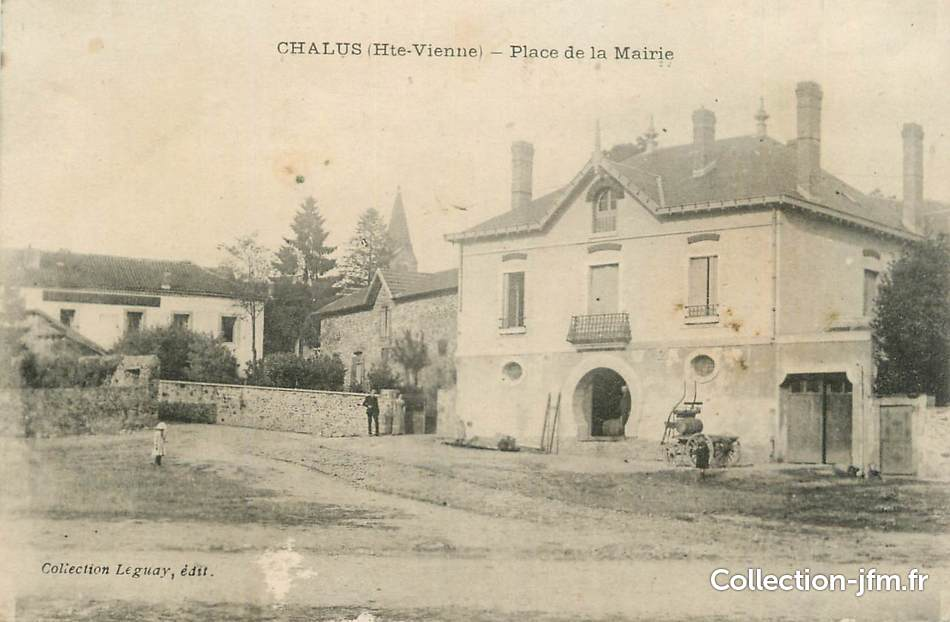 Cpa france 87 chalus place de la mairie 87 haute for 87 haute vienne carte