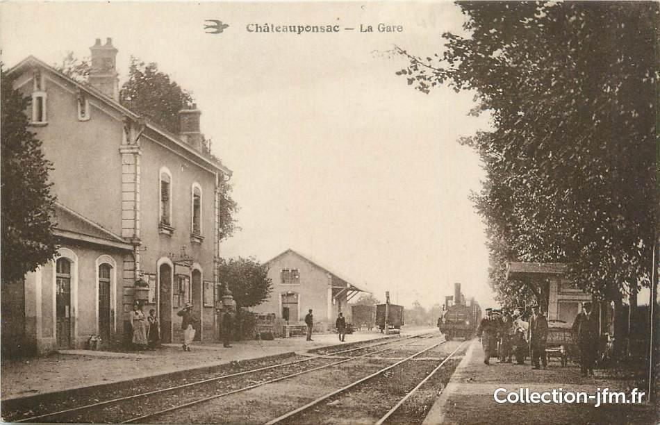 Cpa france 87 chateauponsac la gare 87 haute vienne for 87 haute vienne france
