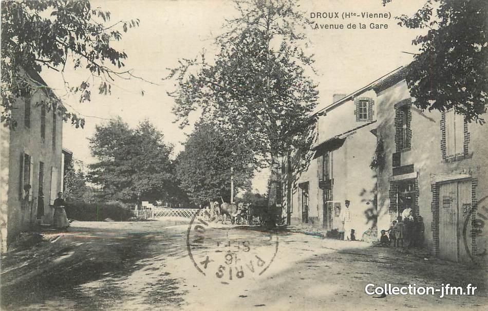Cpa france 87 droux avenue de la gare 87 haute for 87 haute vienne france