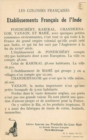 Cpa Inde Colonies Françaises Comptoir Des Indes Asie Inde