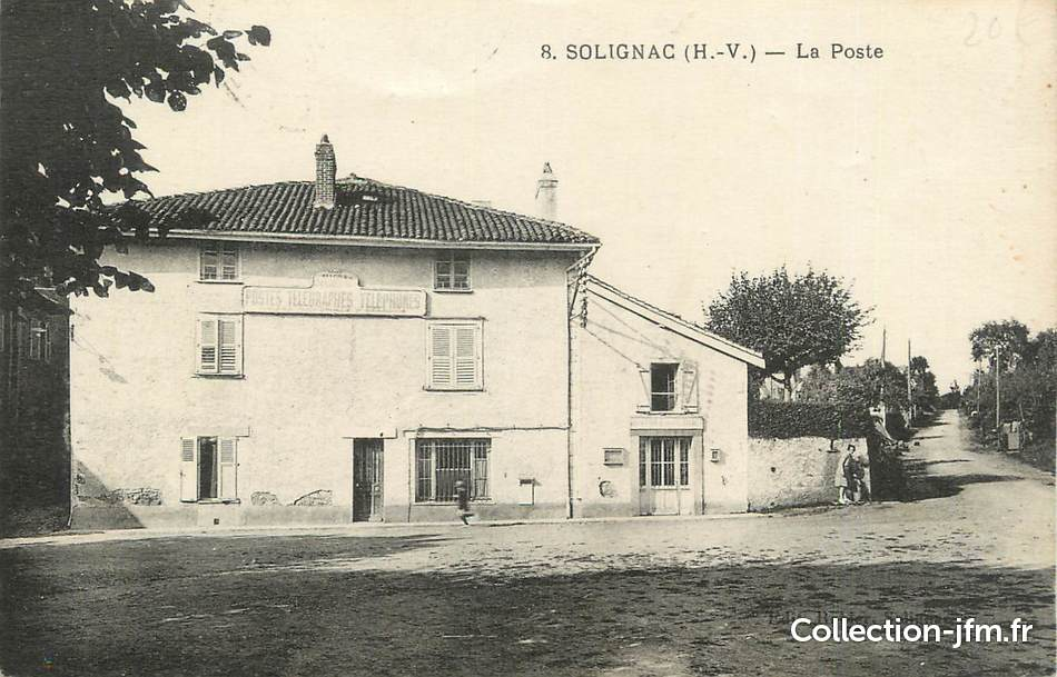 Cpa france 87 solignac la poste 87 haute vienne for 87 haute vienne france