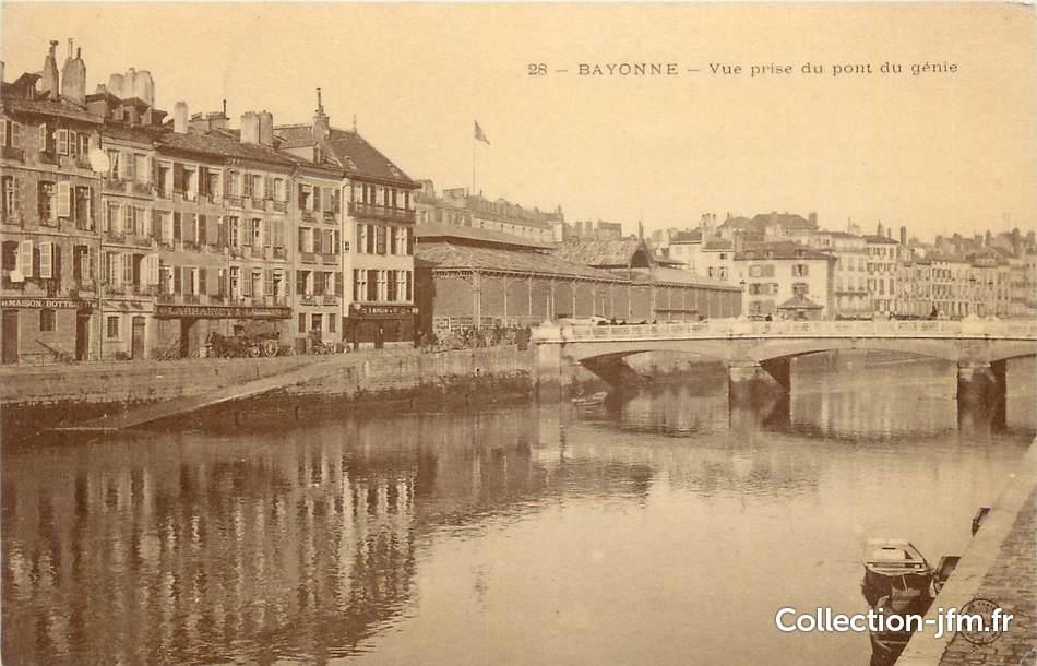 Cpa france 64 bayonne vue prise du pont du g nie 64 - Office du tourisme pyrenees atlantiques ...
