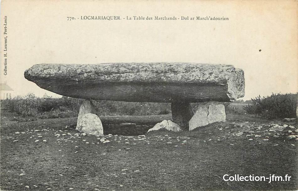 Cpa france 56 locmariaquer la table des marchands dolmen 56 morbihan autres communes - Locmariaquer table des marchands ...