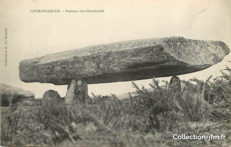 Cpa france 56 locmariaquer le dolmen des marchands dolmen 56 morbihan autres communes - Locmariaquer table des marchands ...