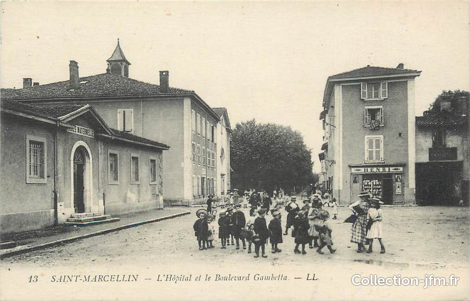 Cpa france 38 st marcellin l 39 h pital et le boulevard for St marcellin isere