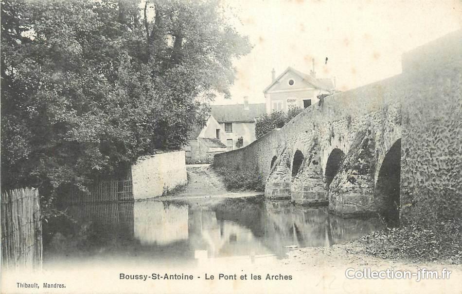 Cpa france 91 boussy st antoine le pont et les arches for Boussy saint antoine piscine