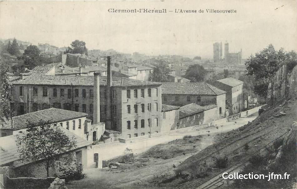cpa france 34 clermont l 39 h rault avenue de villeneuvette 34 herault autres communes 34. Black Bedroom Furniture Sets. Home Design Ideas