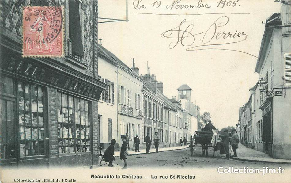 Cpa france 78 neauphle le ch teau la rue st nicolas for Agrandissement maison houilles