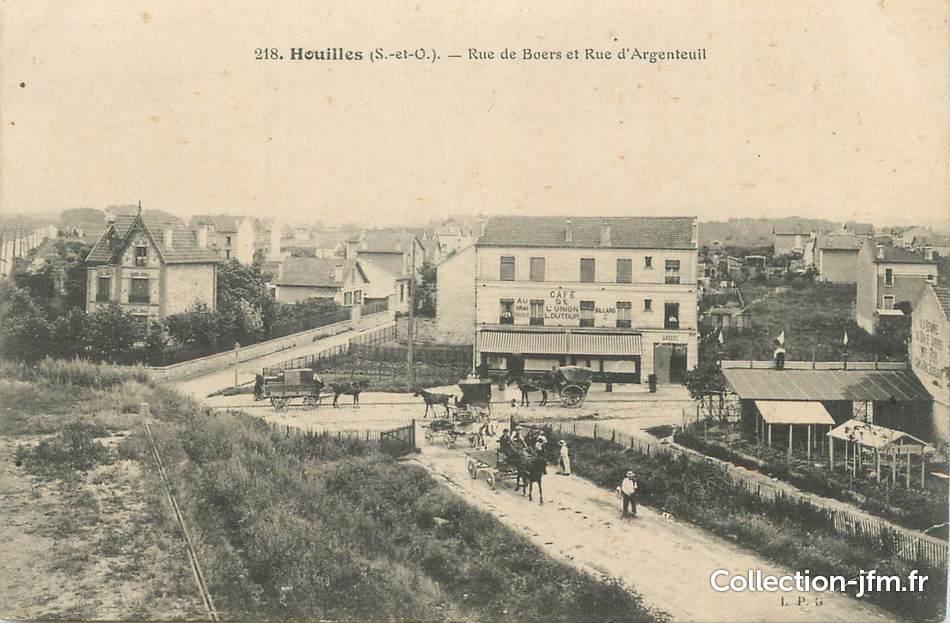 Cpa france 78 houilles rue de boers et rue d 39 argenteuil for Agrandissement maison houilles
