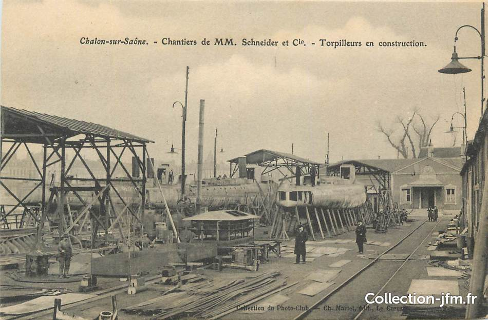 Cpa france 71 chalon sur sa ne chantier schneider et for Plan de chalon sur saone 71